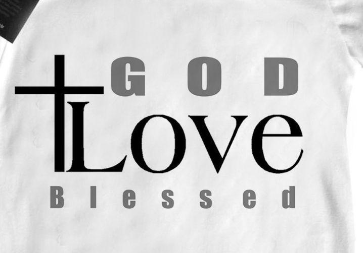 Camiseta Infantil  Cristão Deus Amor Abençoado - White -  - Baby Monster - Body Bebe