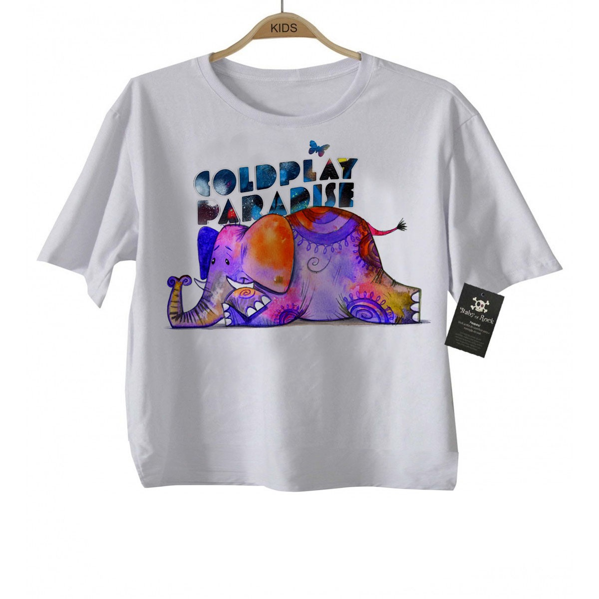 Camiseta Infantil de Rock  Coldplay - White  - Baby Monster S/A