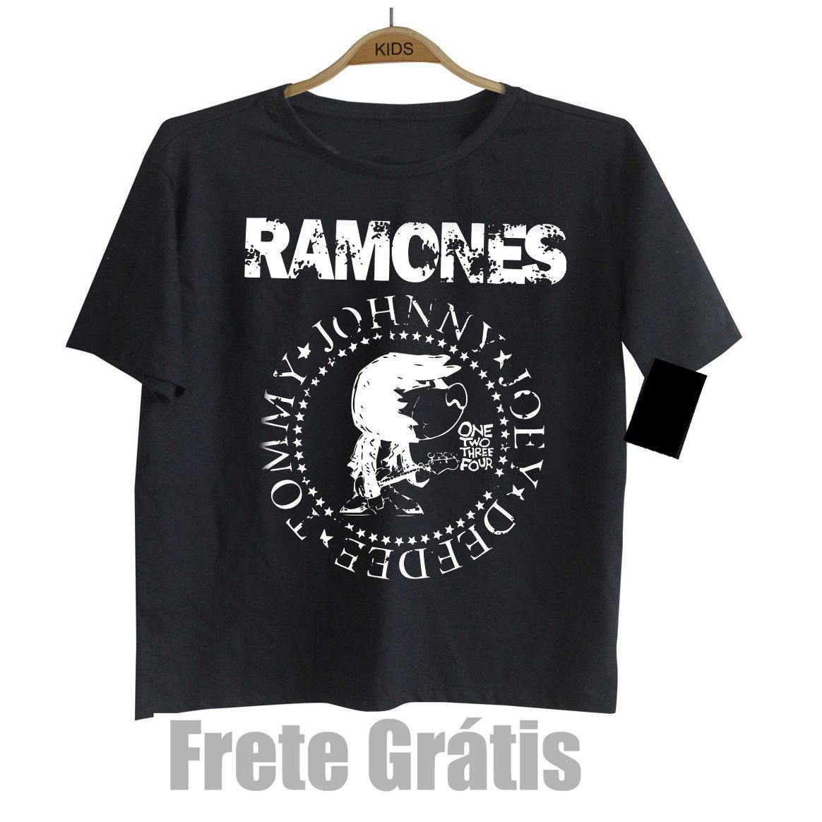 Camiseta Infantil de Rock do RAMONES - Black  - Baby Monster S/A