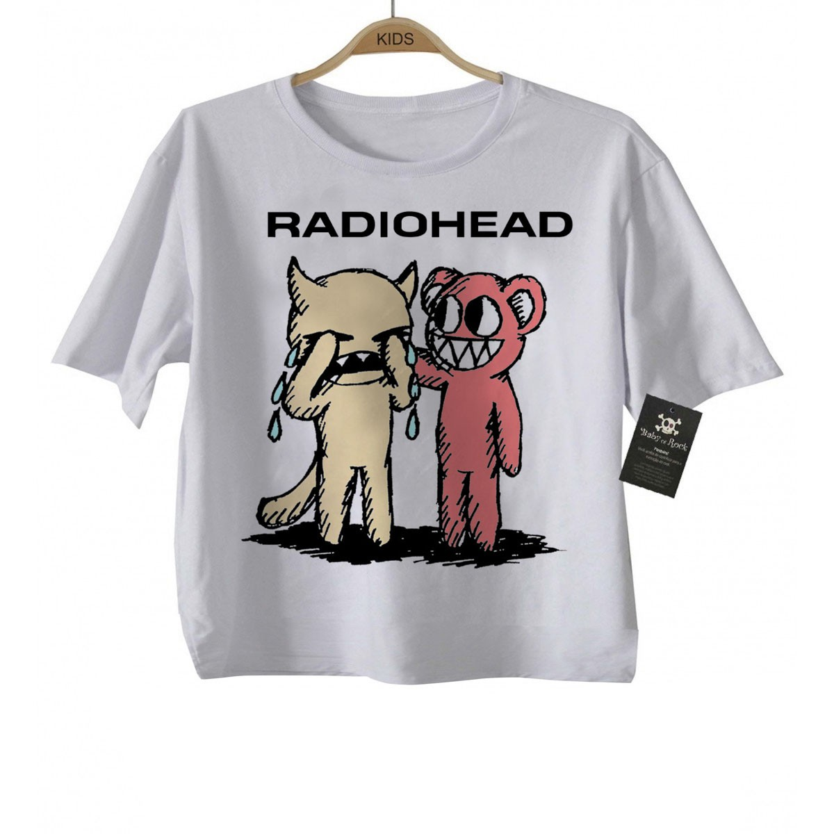 Camiseta Infantil de Rock Radiohead Cute  - Baby Monster S/A
