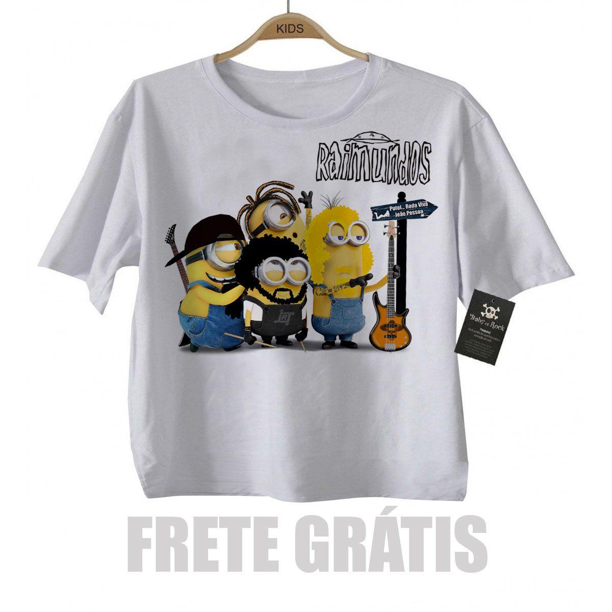 Camiseta Infantil de Rock Raimundos Minions Baby Monster  - Baby Monster S/A