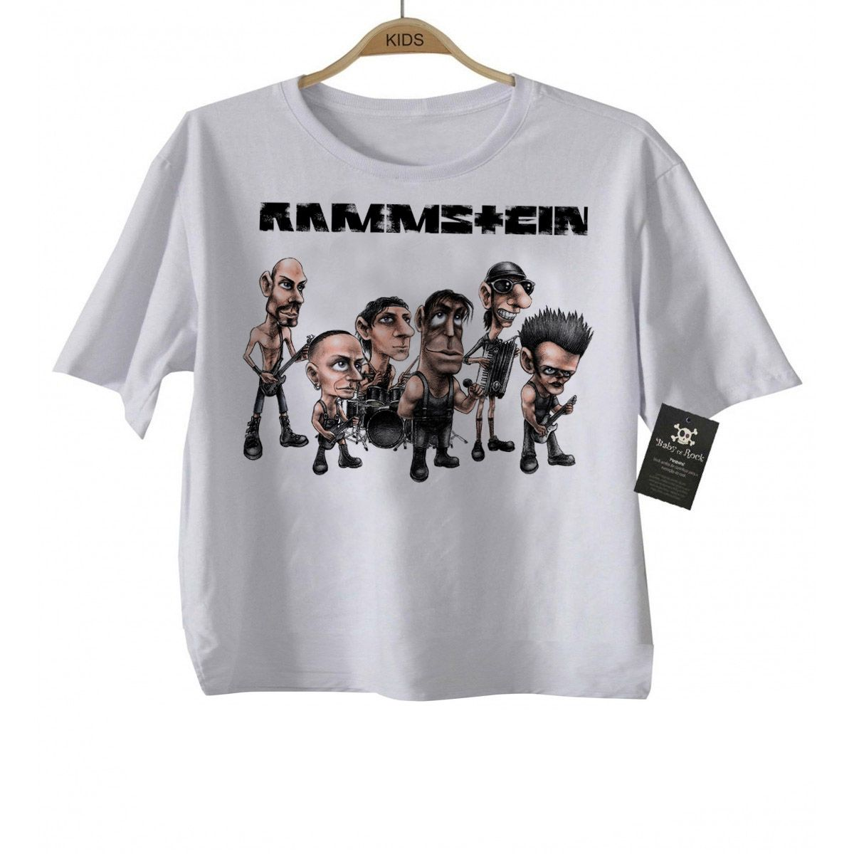 Camiseta infantil de Rock Rammstein- White   - Baby Monster S/A