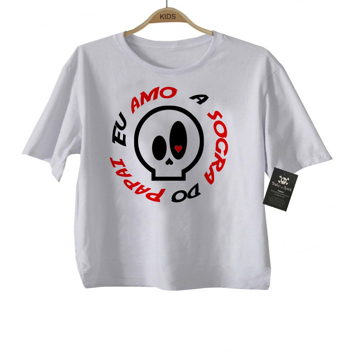 Camiseta Infantil Divertida - Amo a Sogra do Papai - White  - Baby Monster S/A