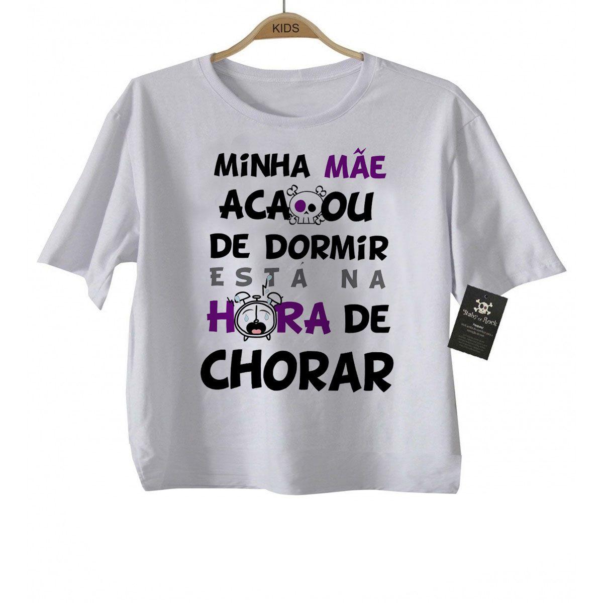 Camiseta Infantil engraçada  É hora de Chorar- White  - Baby Monster S/A