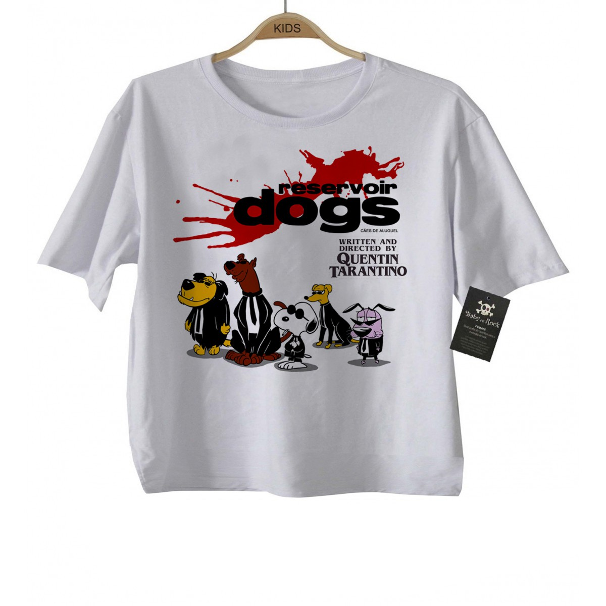Camiseta Infantil filmes Cães de Aluguel (Tarantino) - White  - Baby Monster S/A