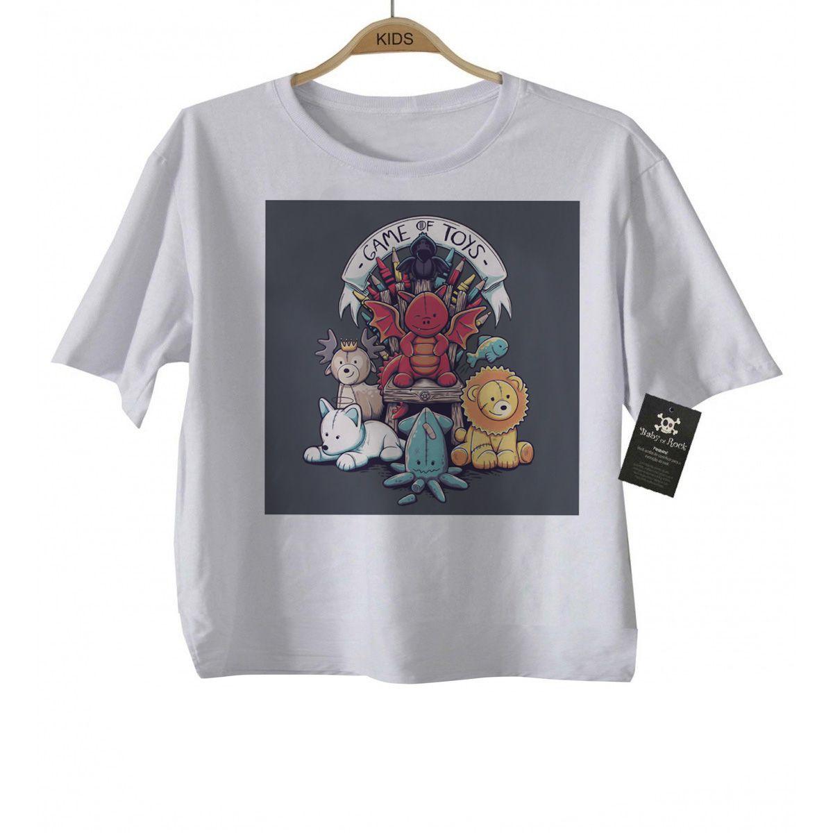 Camiseta Infantil  - Filmes - Game of Toys White  - Baby Monster - Body Bebe