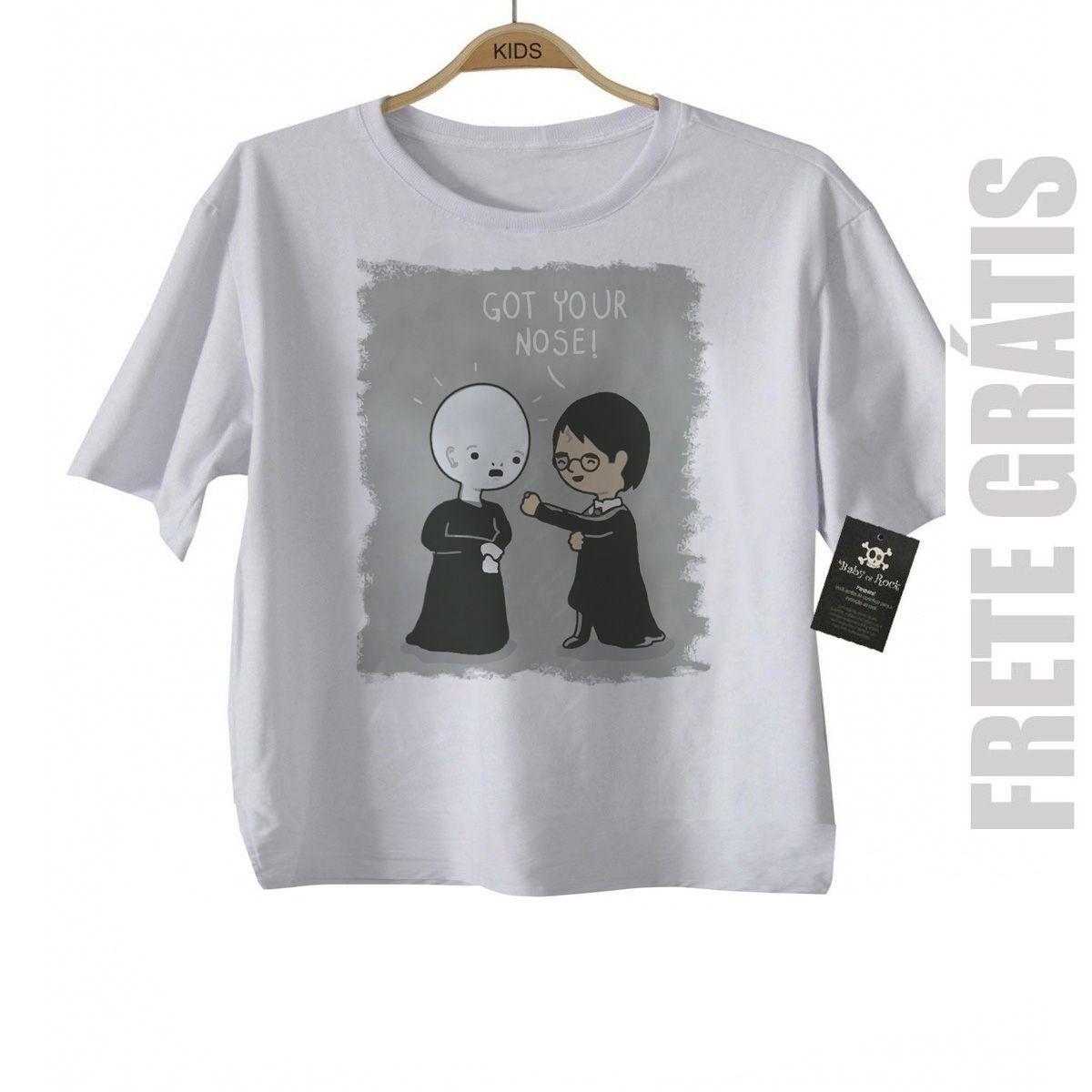 Camiseta Infantil Filmes - Nerd / Geek  Bebe  Potter - White  - Baby Monster - Body Bebe