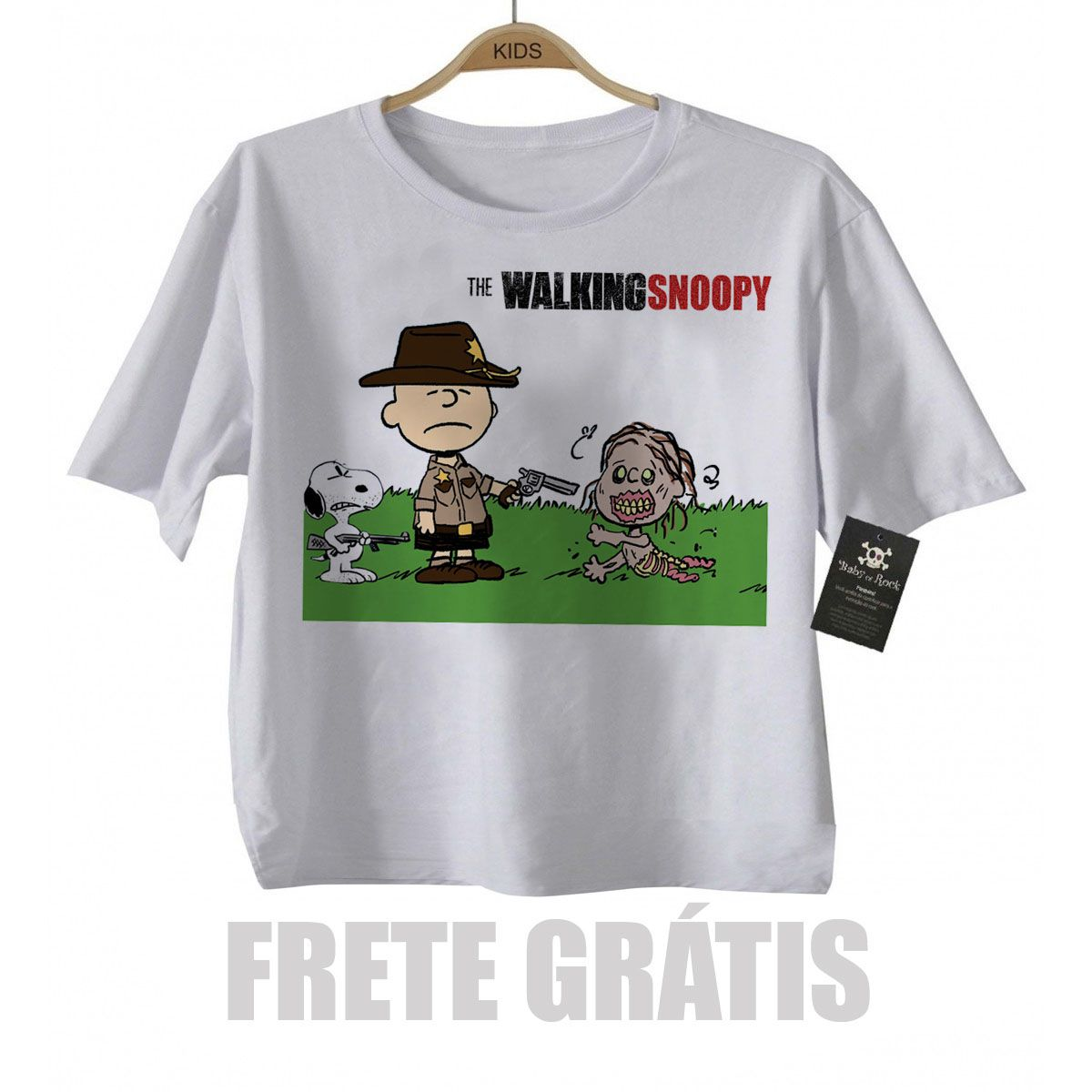 Camiseta Infantil  Filmes The Walking Dead Snoopy   - Baby Monster S/A