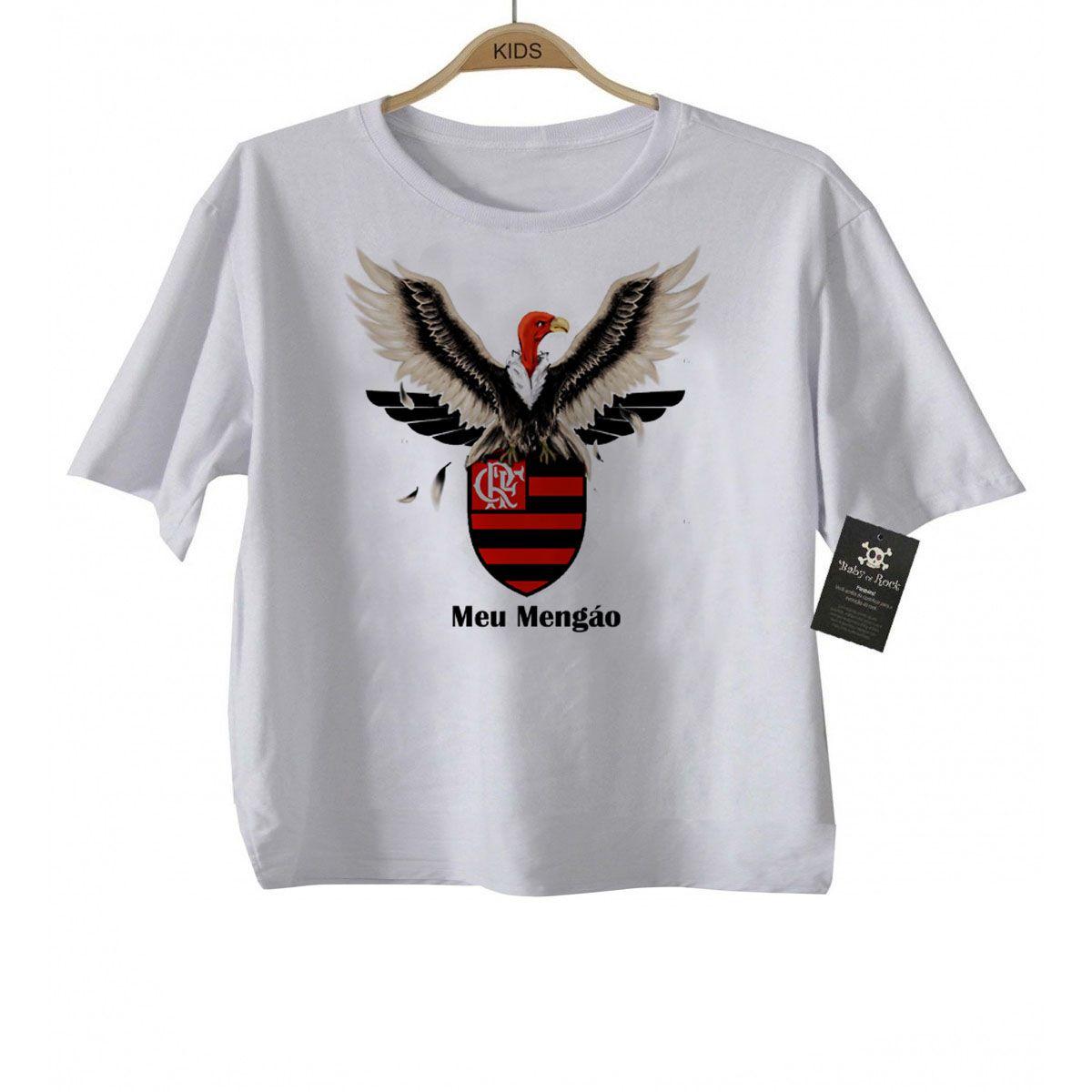 Camiseta Infantil Flamengo Futebol Time - White  - Baby Monster S/A