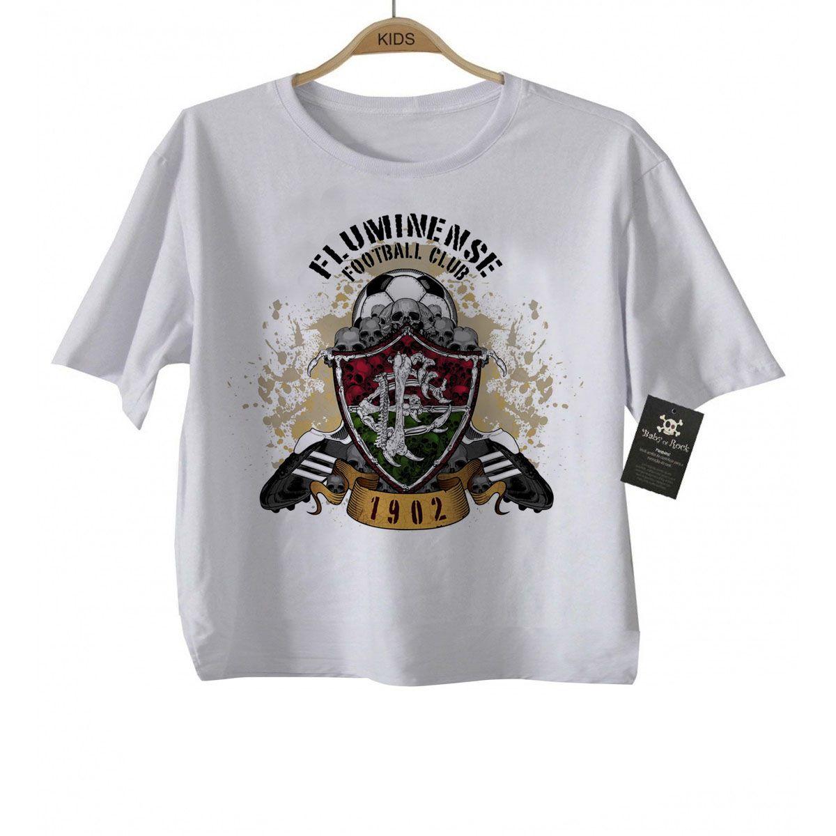 Camiseta Infantil Fluminenses Futebol Time - White  - Baby Monster S/A
