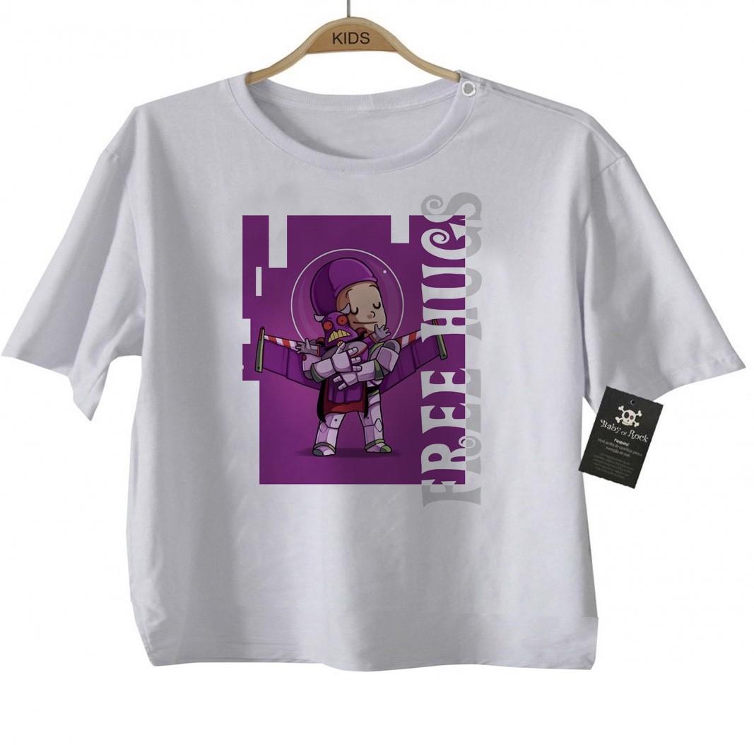 Camiseta Infantil  Free Hugs Toy Story -  Abraço de Super Vilão - White  - Baby Monster S/A