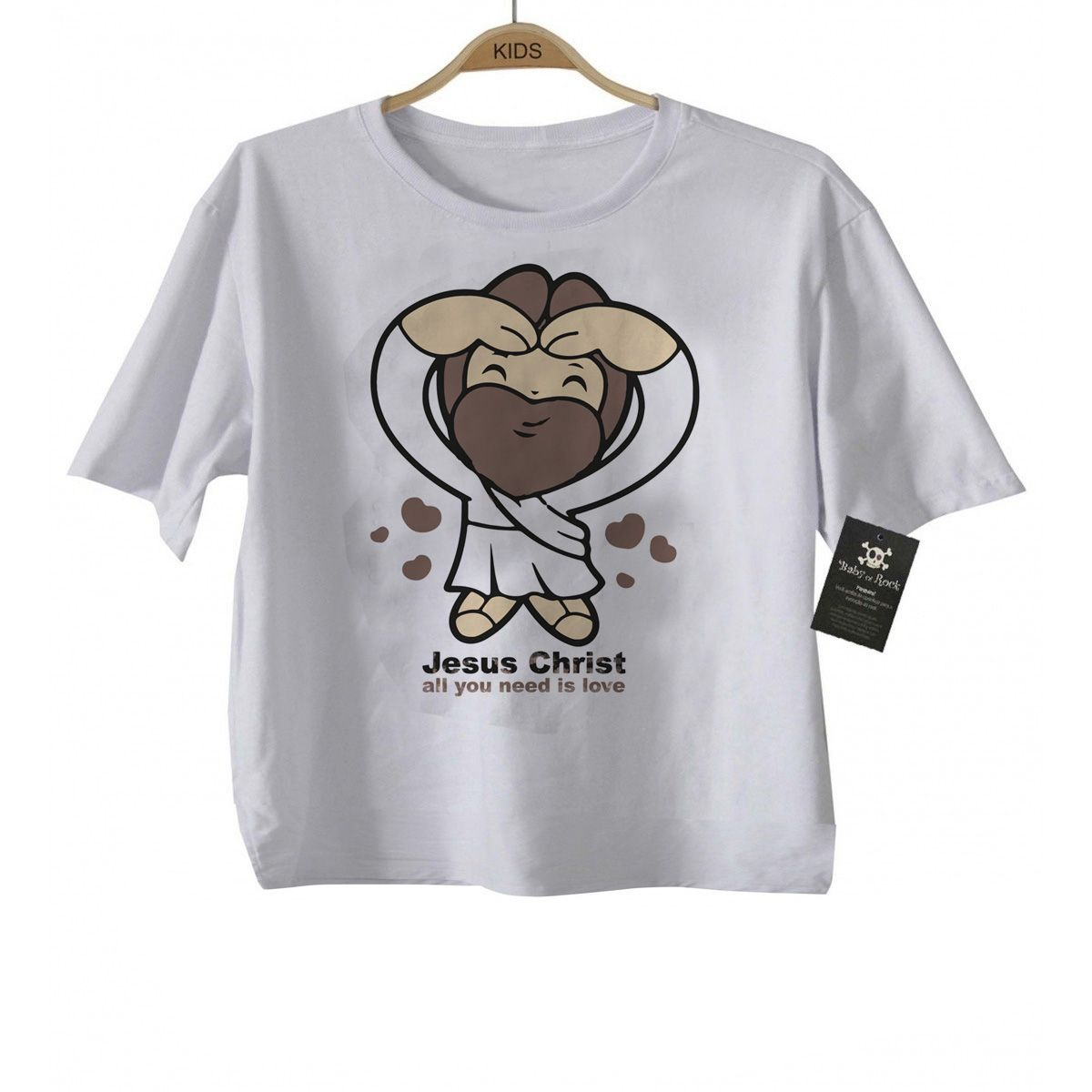 Camiseta Infantil  Gospel All you Need is Love - White  - Baby Monster S/A