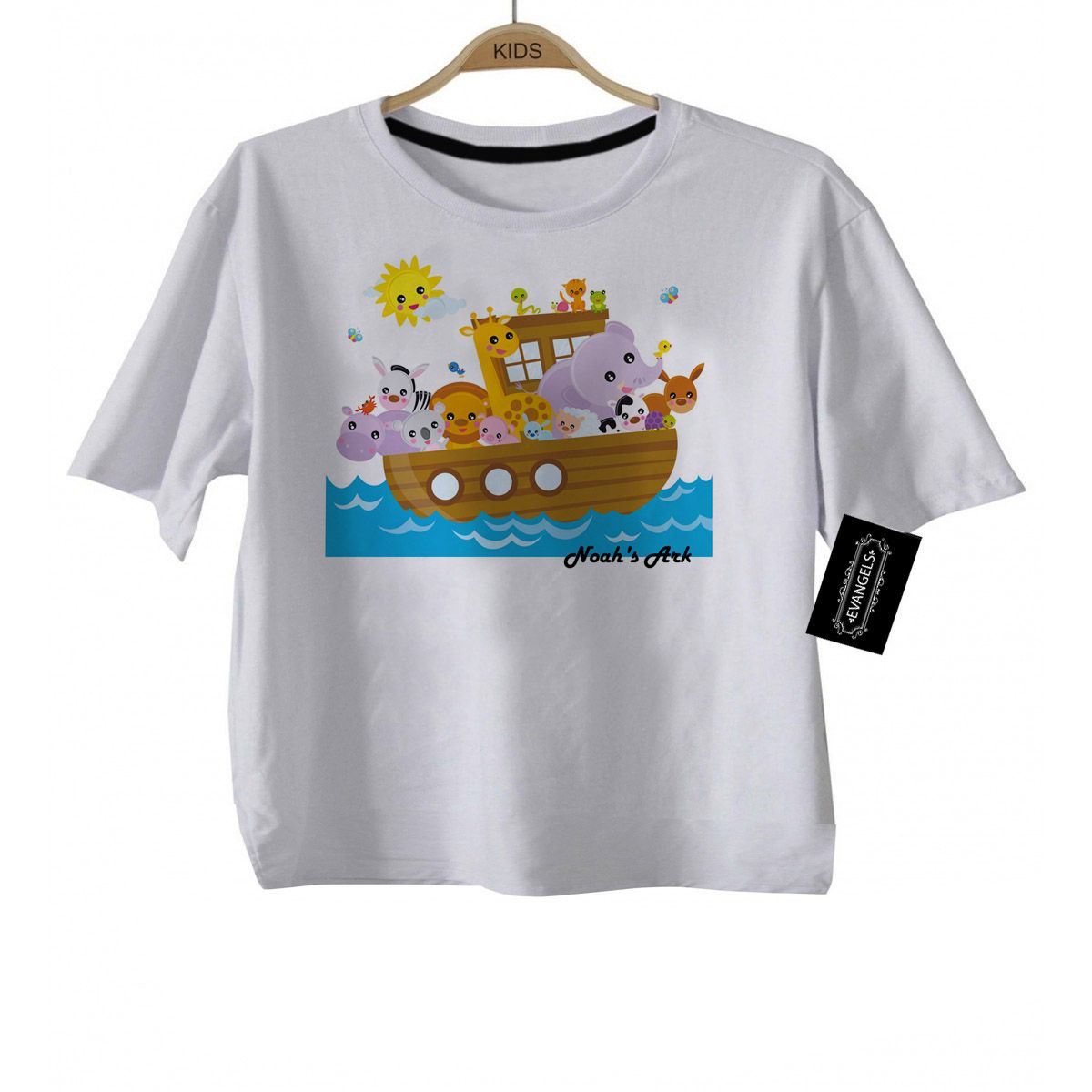 Camiseta Infantil Gospel Arca de Noé - white  - Baby Monster - Body Bebe