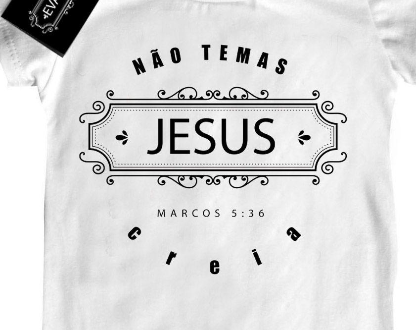 Camiseta Infantil Gospel Não temas  - white  - Baby Monster - Body Bebe