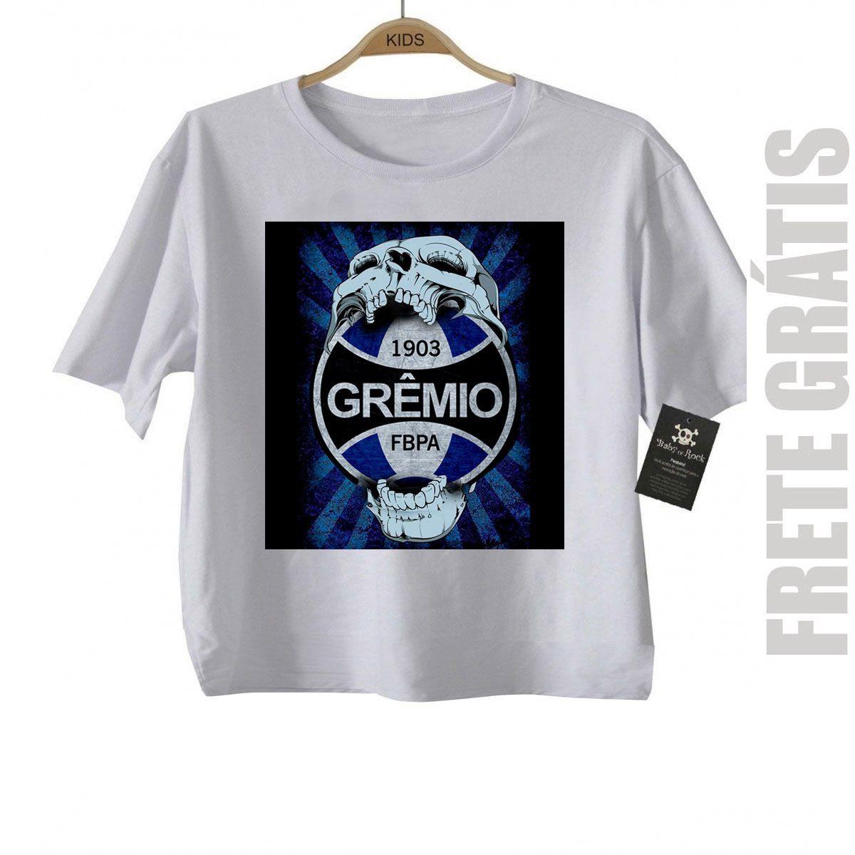 Camiseta Infantil  Gremio Futebol Time - White  - Baby Monster S/A