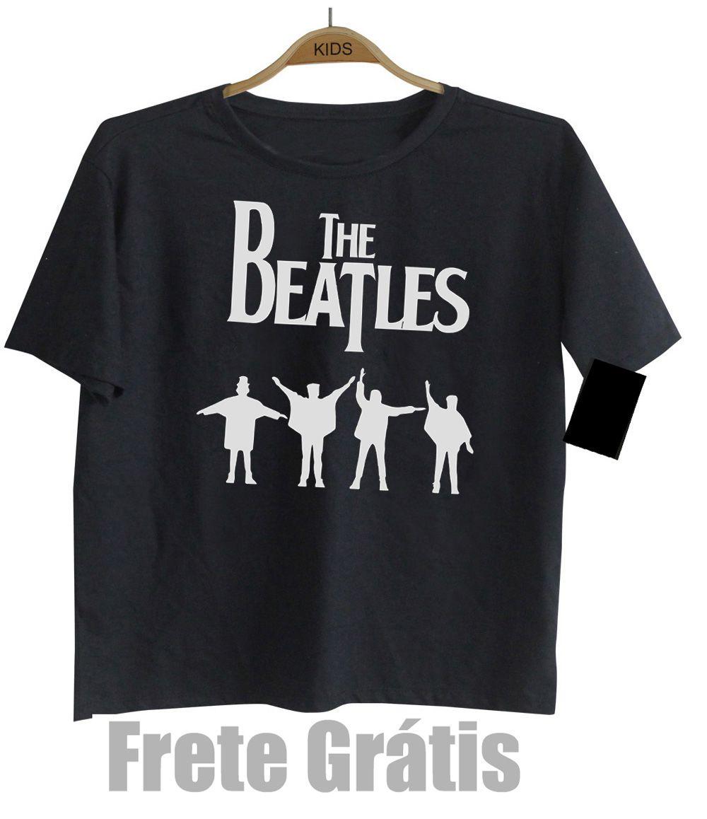 Camiseta Infantil Rock Beatles - Help  - Black  - Baby Monster S/A