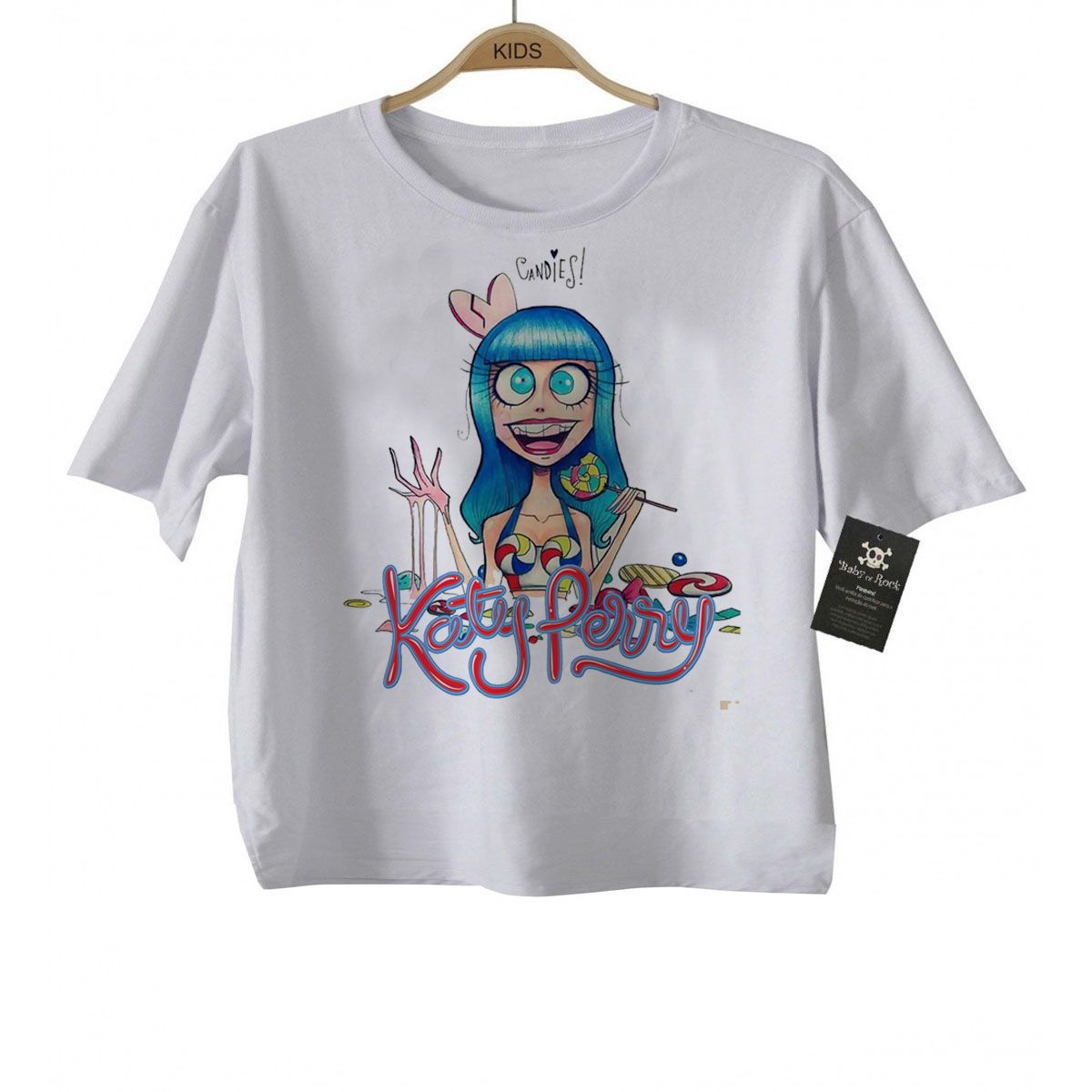 Camiseta Infantil Kate Perry - white  - Baby Monster - Body Bebe