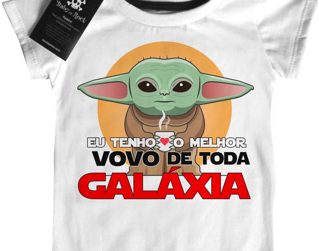 Camiseta Infantil Melhor Avô da Galáxia  - Baby Monster S/A