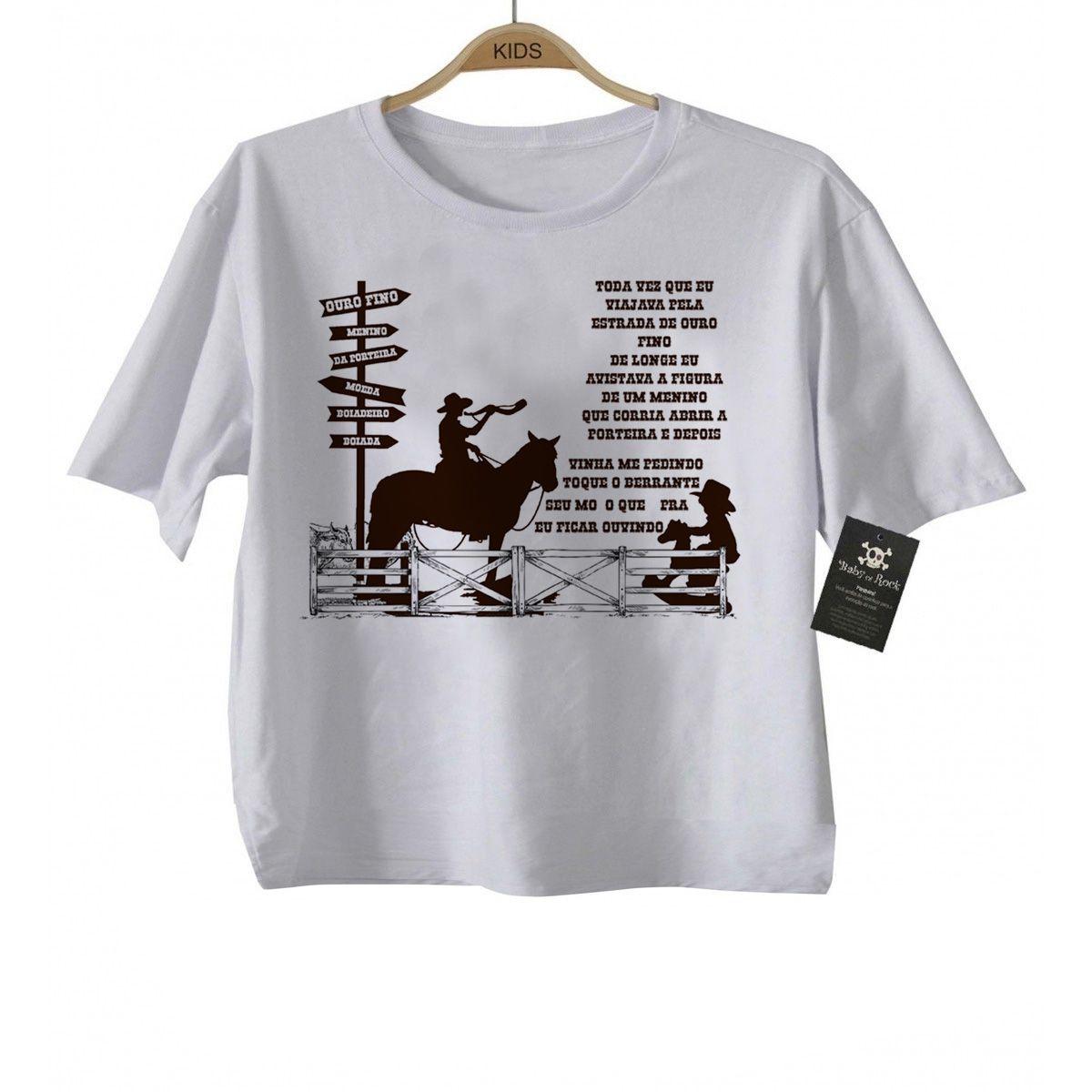 Camiseta Infantil Menino da Porteira - White  - Baby Monster - Body Bebe