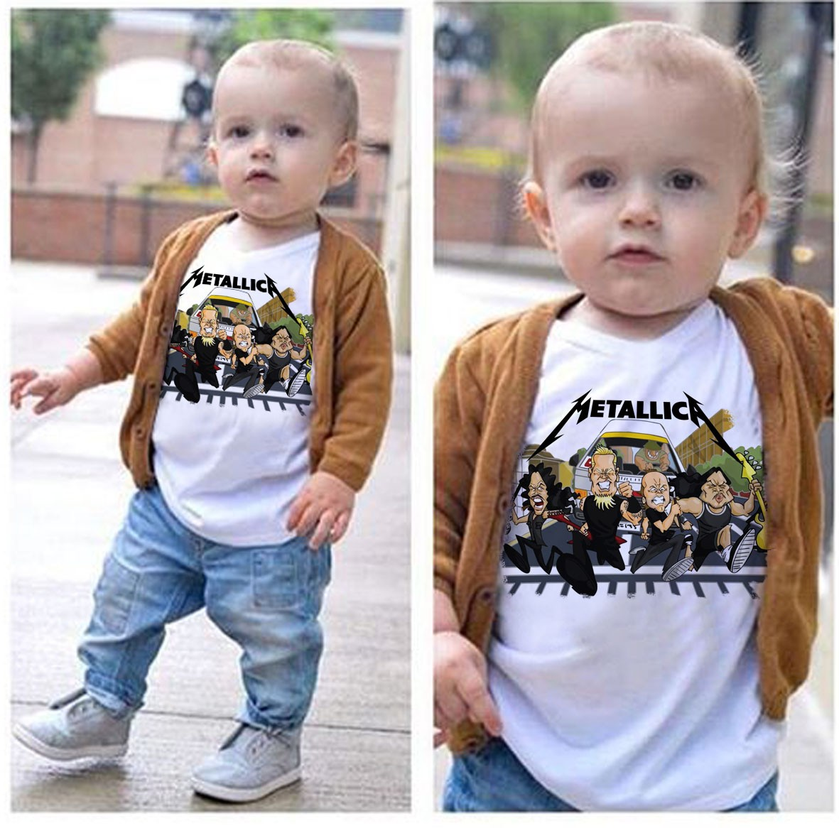Camiseta Infantil Metallica Run - White  - Baby Monster - Body Bebe