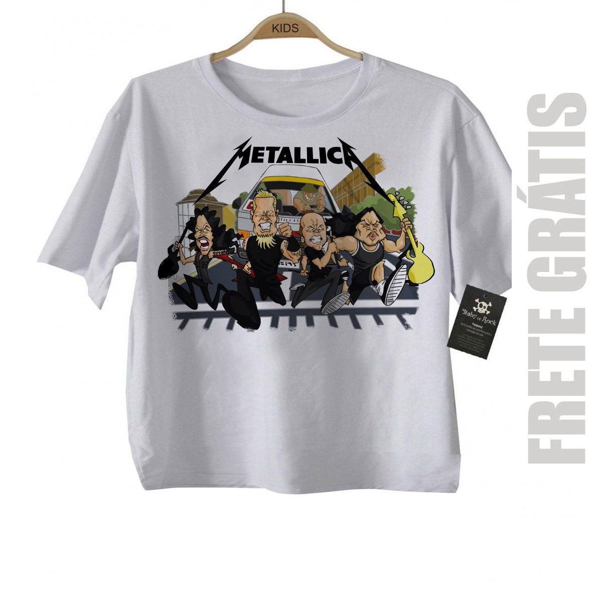 Camiseta Infantil Metallica Run - White  - Baby Monster S/A