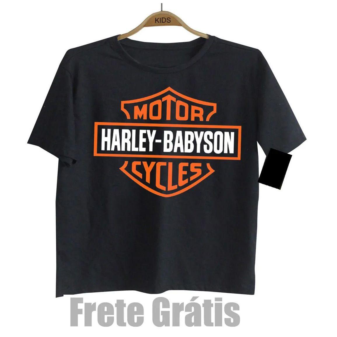 Camiseta Infantil  Moto Rock - Harley Babyson - Black  - Baby Monster S/A