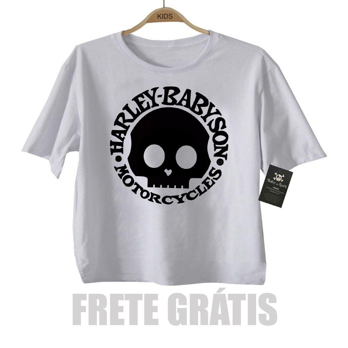 Camiseta Infantil  Moto Rock - Harley Babyson - White  - Baby Monster - Body Bebe