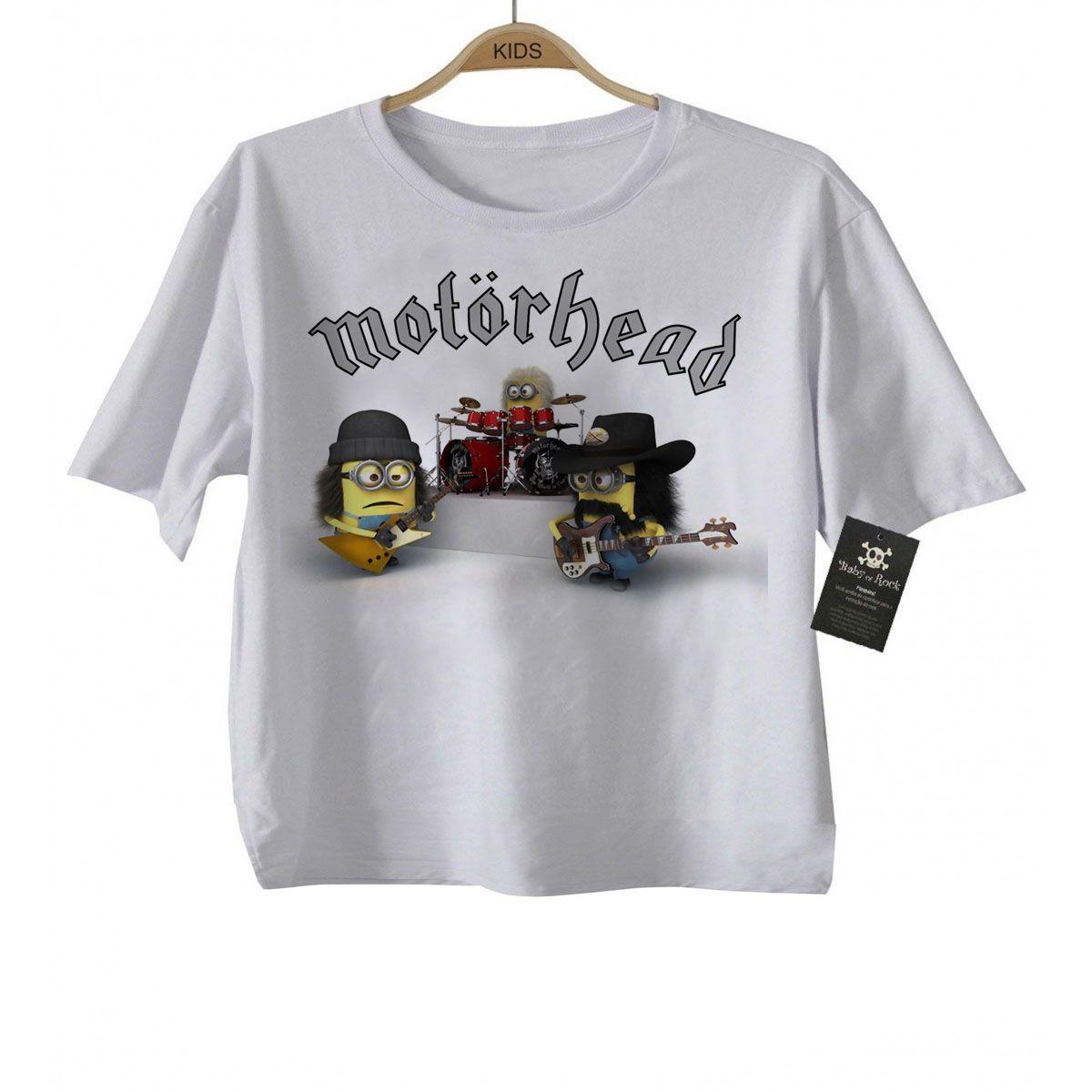 Camiseta Infantil  Motorhead - Minions - White  - Baby Monster S/A