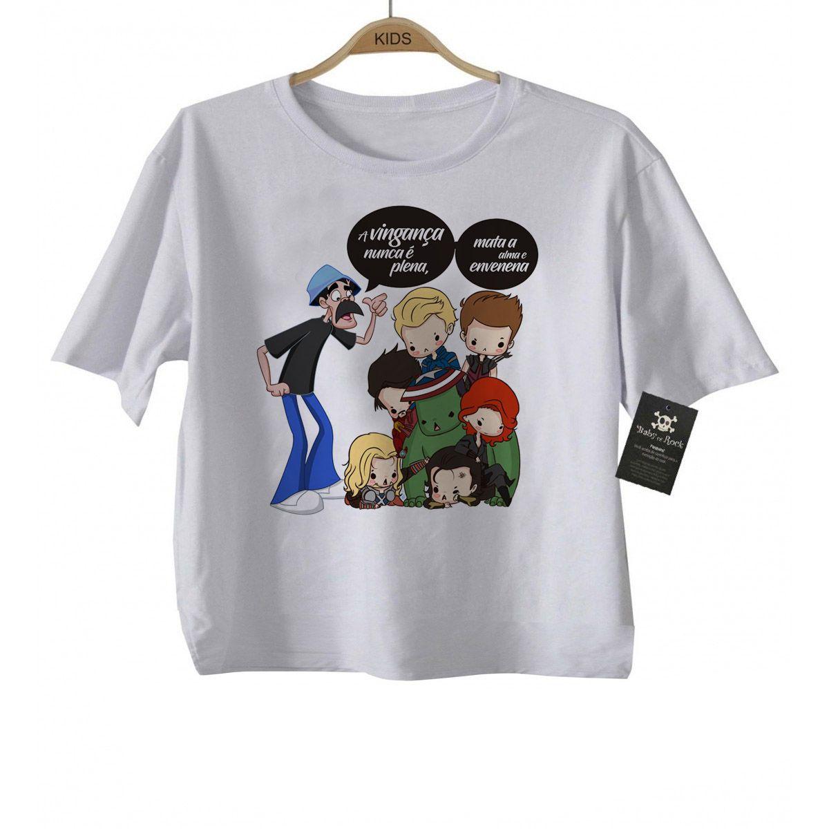 f3da1579b Camiseta infantil Nerd   Geek Seu Madruga e os Vingadores - White - Baby  Monster ...