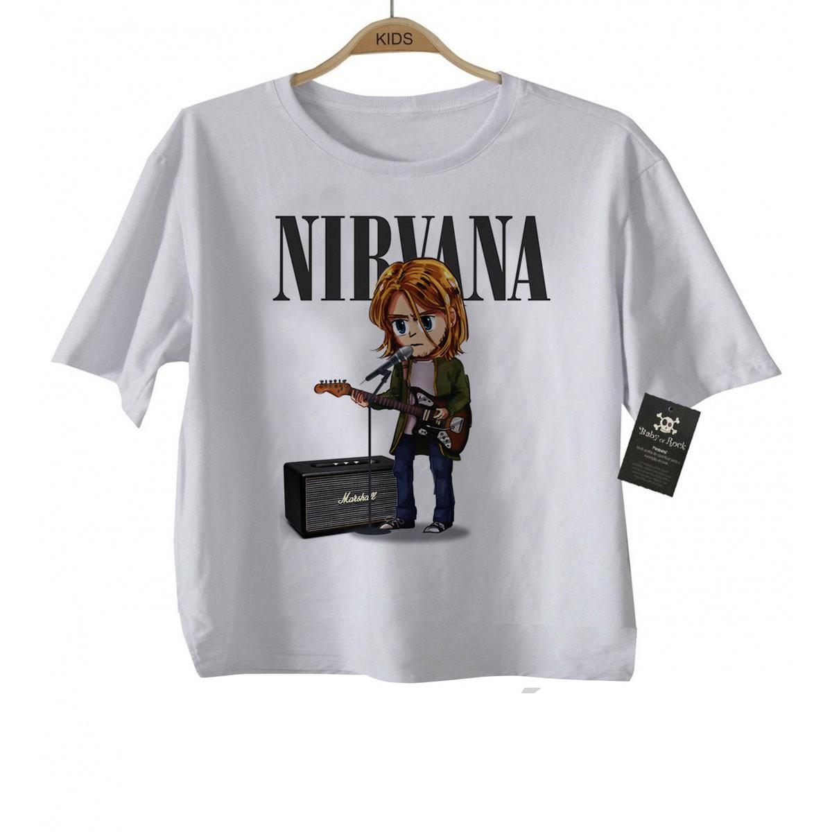 Camiseta Infantil  Nirvana Anime 3d - Estampa Animada  - Baby Monster S/A