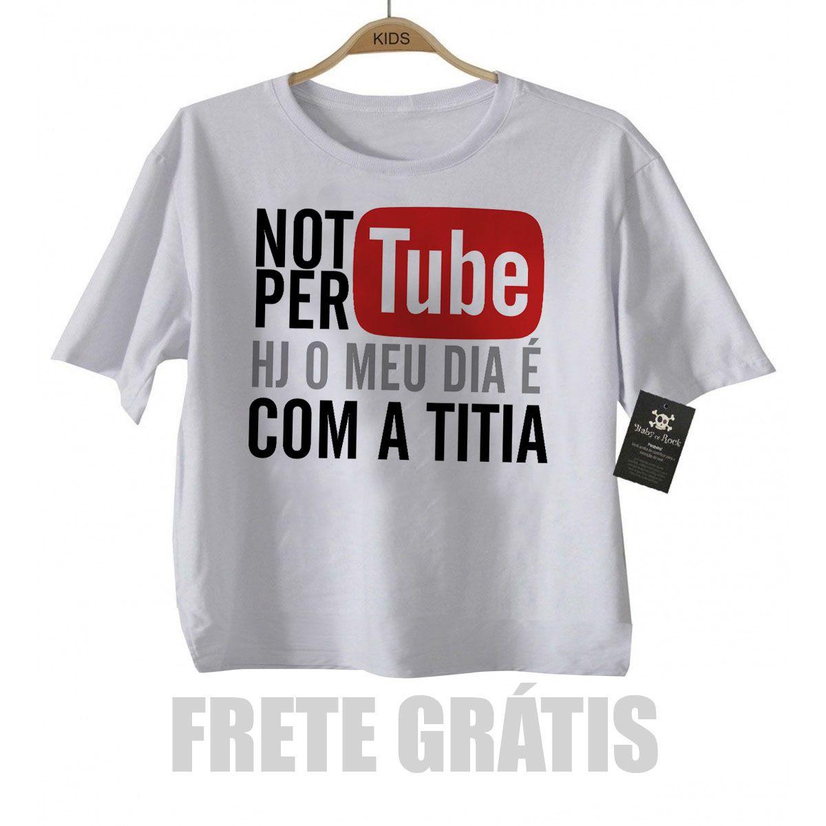 Camiseta Infantil   Not Pertube Titia   Divertido   White  - Baby Monster S/A