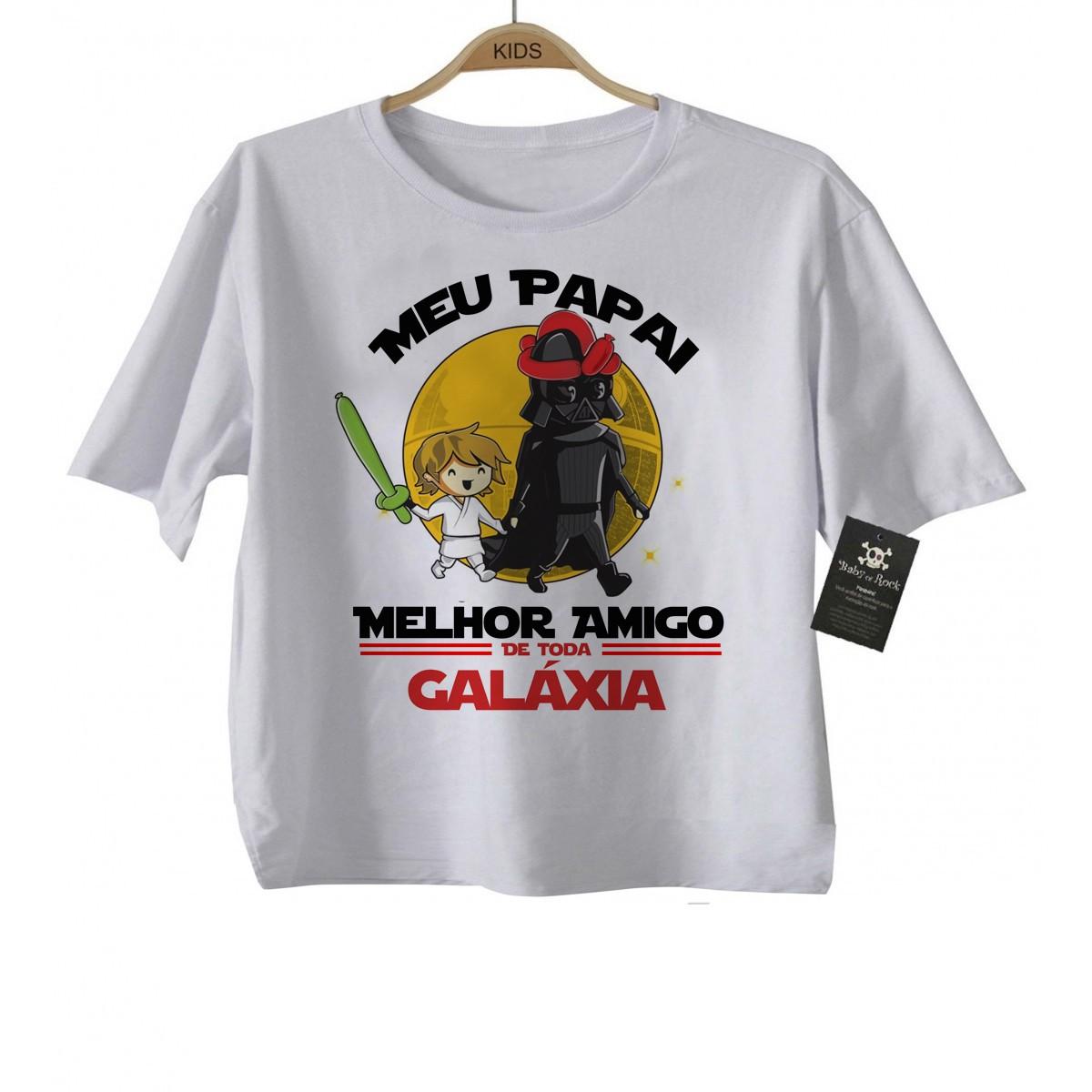Camiseta Infantil  Papai Melhor amigo da Galáxia (Menino)  - Baby Monster S/A
