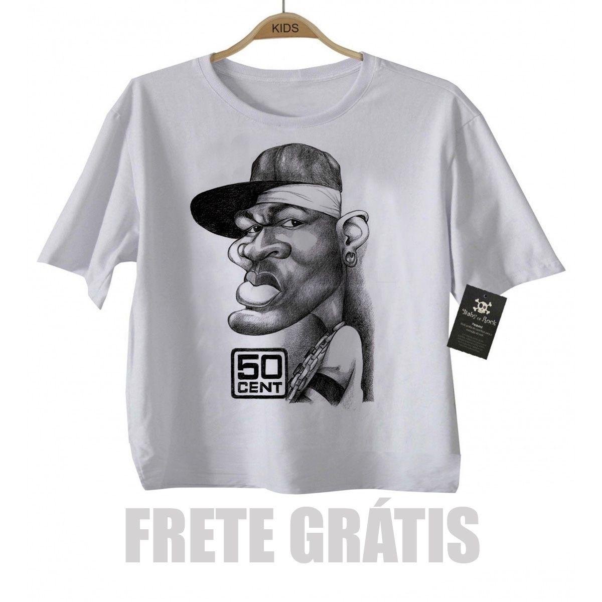 Camiseta Infantil  Rap / Hip hop   Baby 50 cent  - White  - Baby Monster S/A