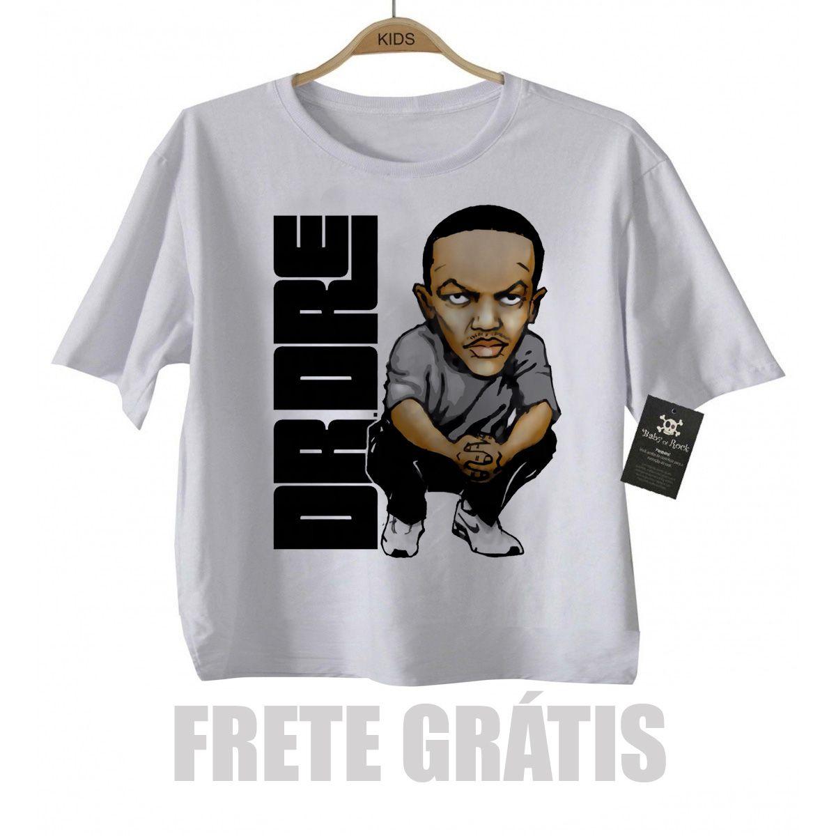 Camiseta Infantil  Rap / Hip hop  Baby Dr Dree  - White  - Baby Monster - Body Bebe