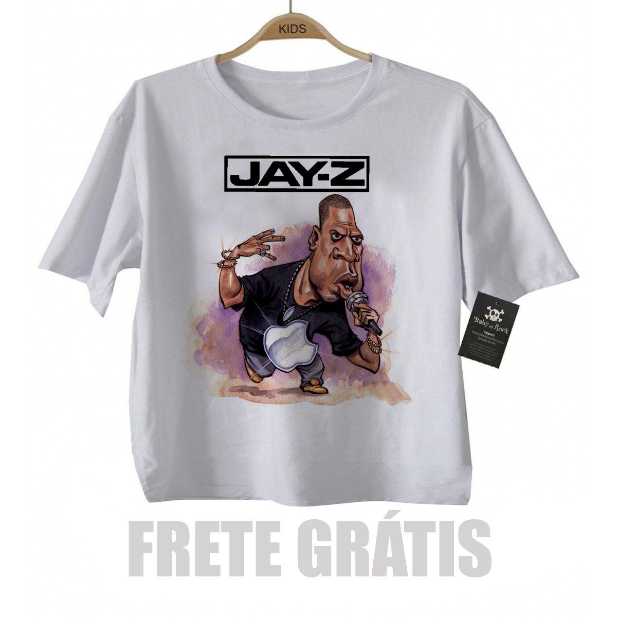 Camiseta infantil  Rap Hip hop   Baby Jay Z - White  - Baby Monster S/A