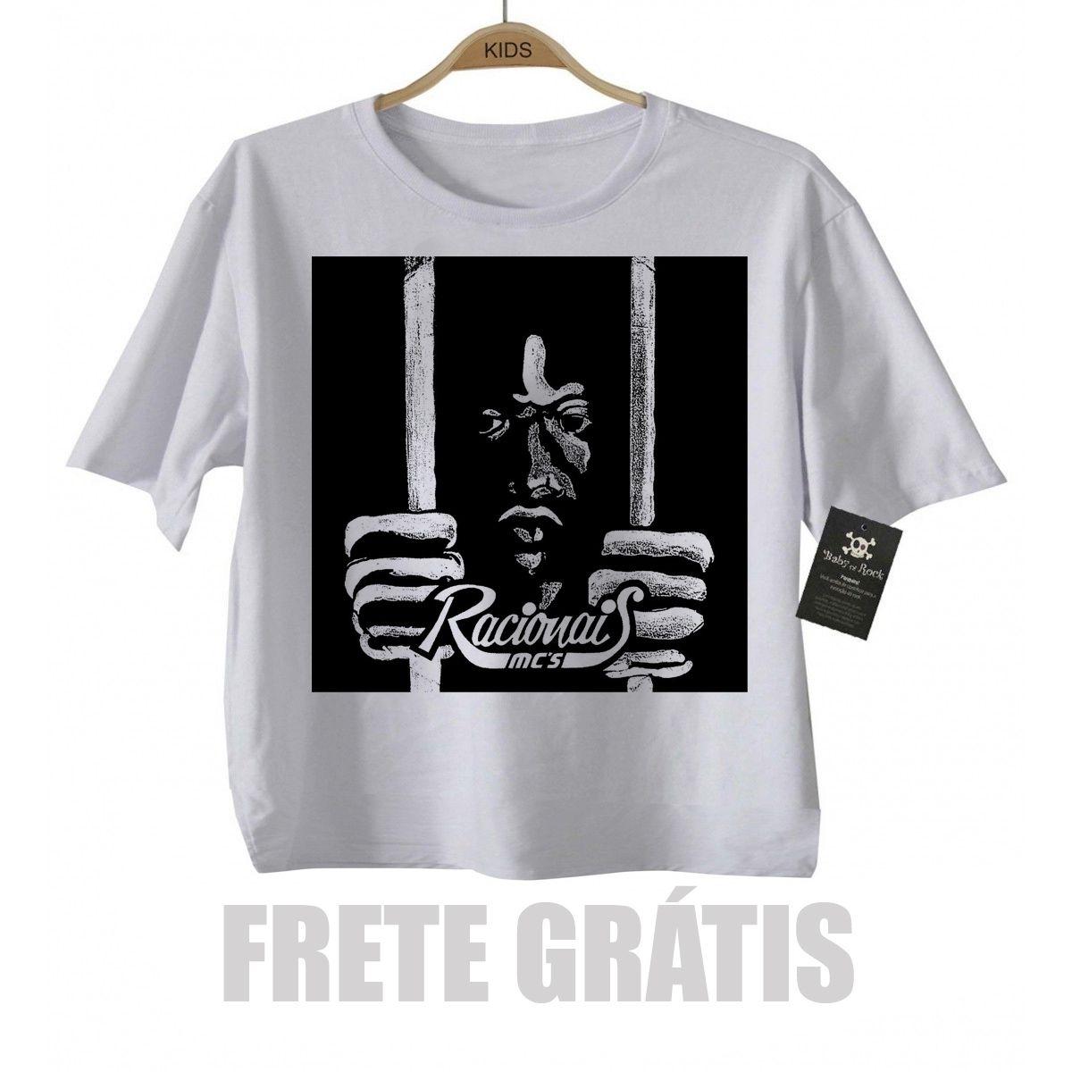 Camiseta Infantil Rap / Hip hop Racionais Mcs - White  - Baby Monster S/A