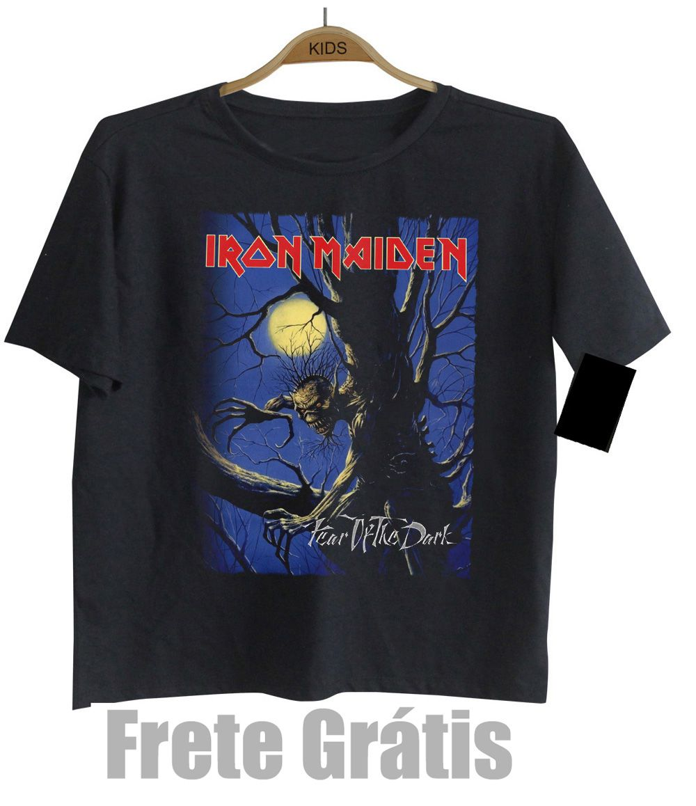 Camiseta Infantil Rock Iron Maiden -  Fear of The Dark- Black  - Baby Monster S/A