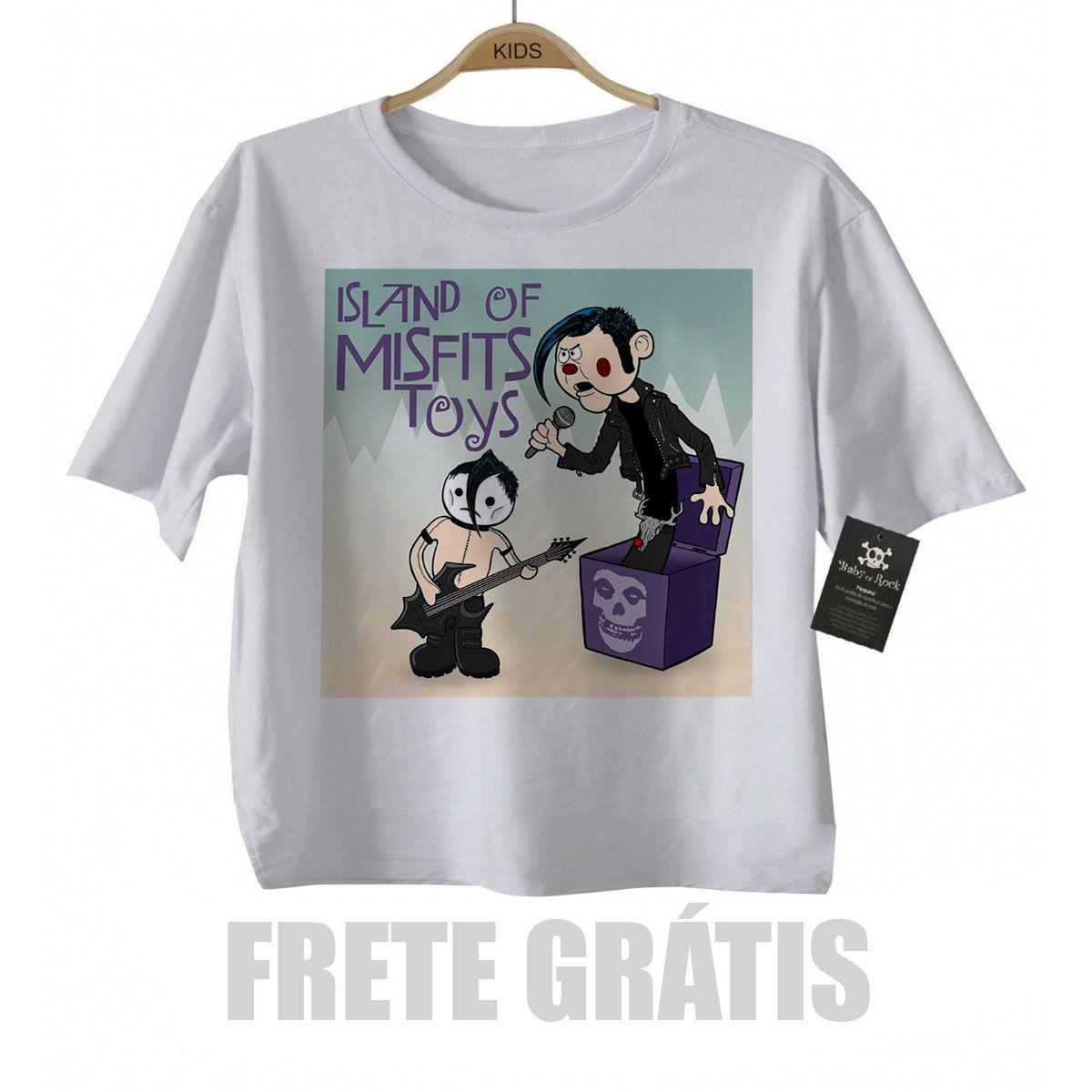 Camiseta Infantil Rock Misfits Toy - White -   - Baby Monster S/A