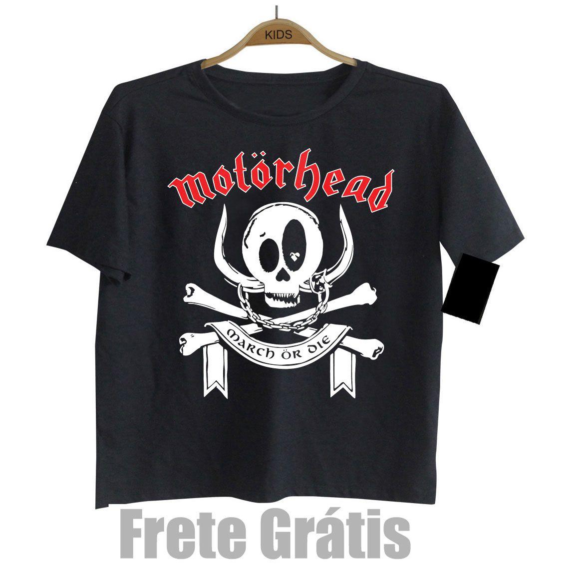 Camiseta Infantil Rock Motorhead Black Baby Monster  - Baby Monster S/A