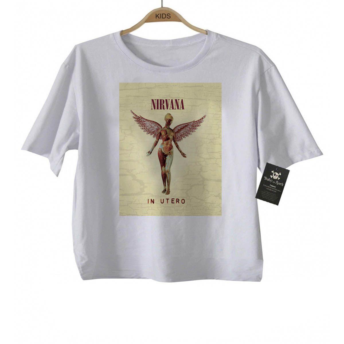 Camiseta Infantil  Rock Nirvana - Sublimation  - Baby Monster S/A