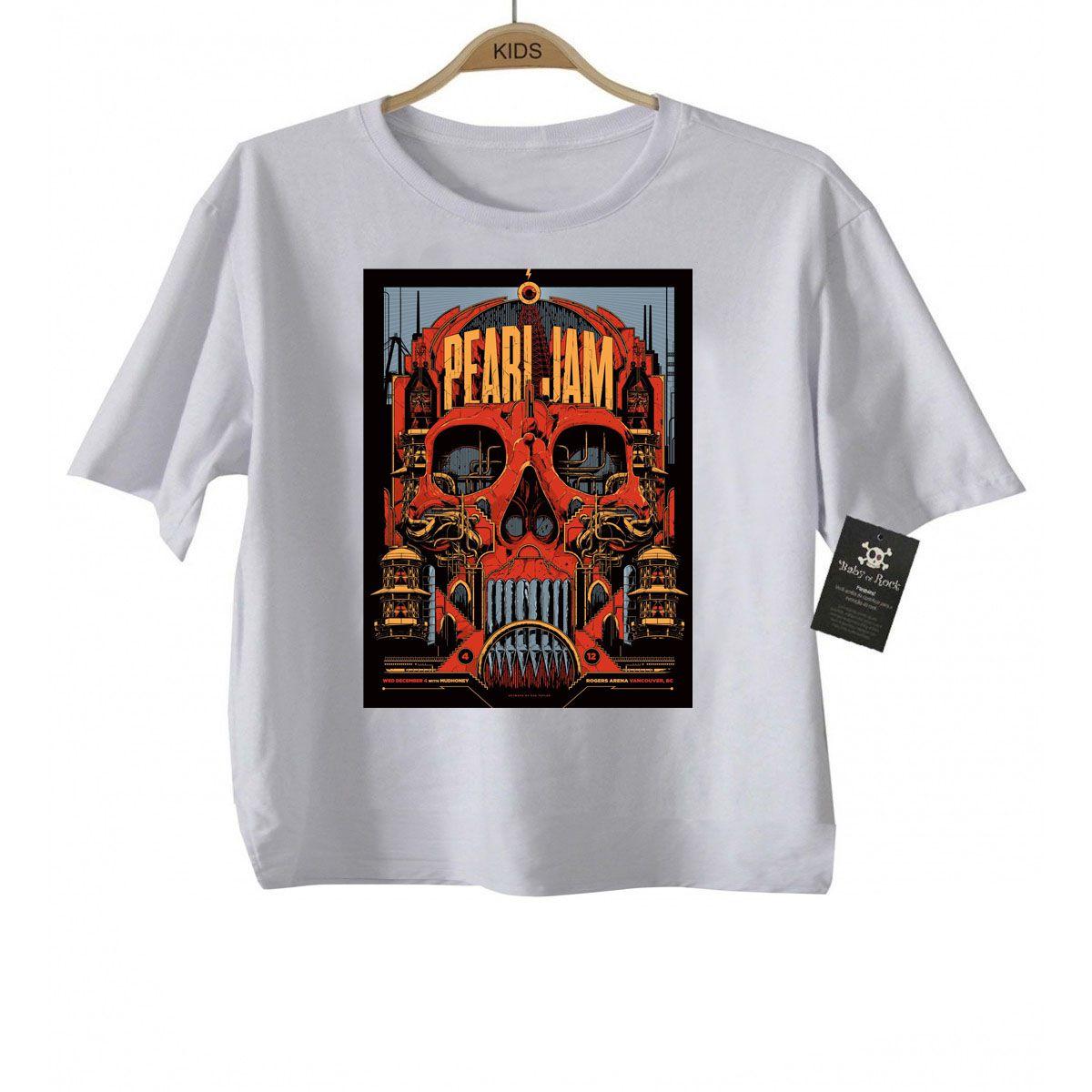 Camiseta Infantil  Rock Pearl Jam - Sublimation  - Baby Monster S/A