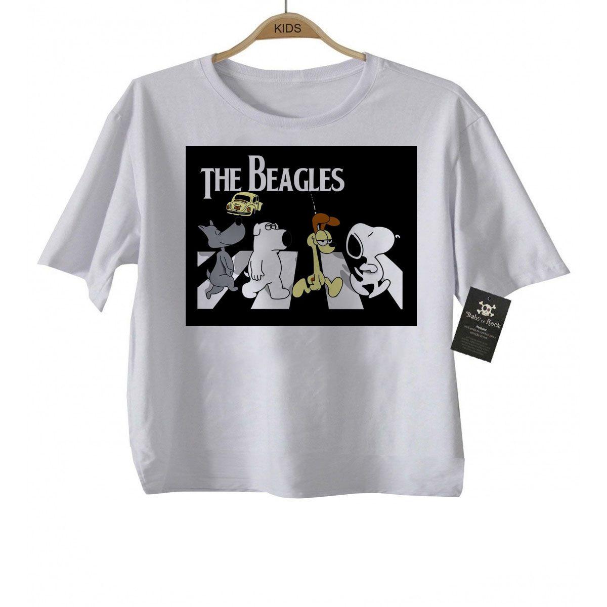 Camiseta Infantil  Rock The BEagles - Sublimation  - Baby Monster - Body Bebe
