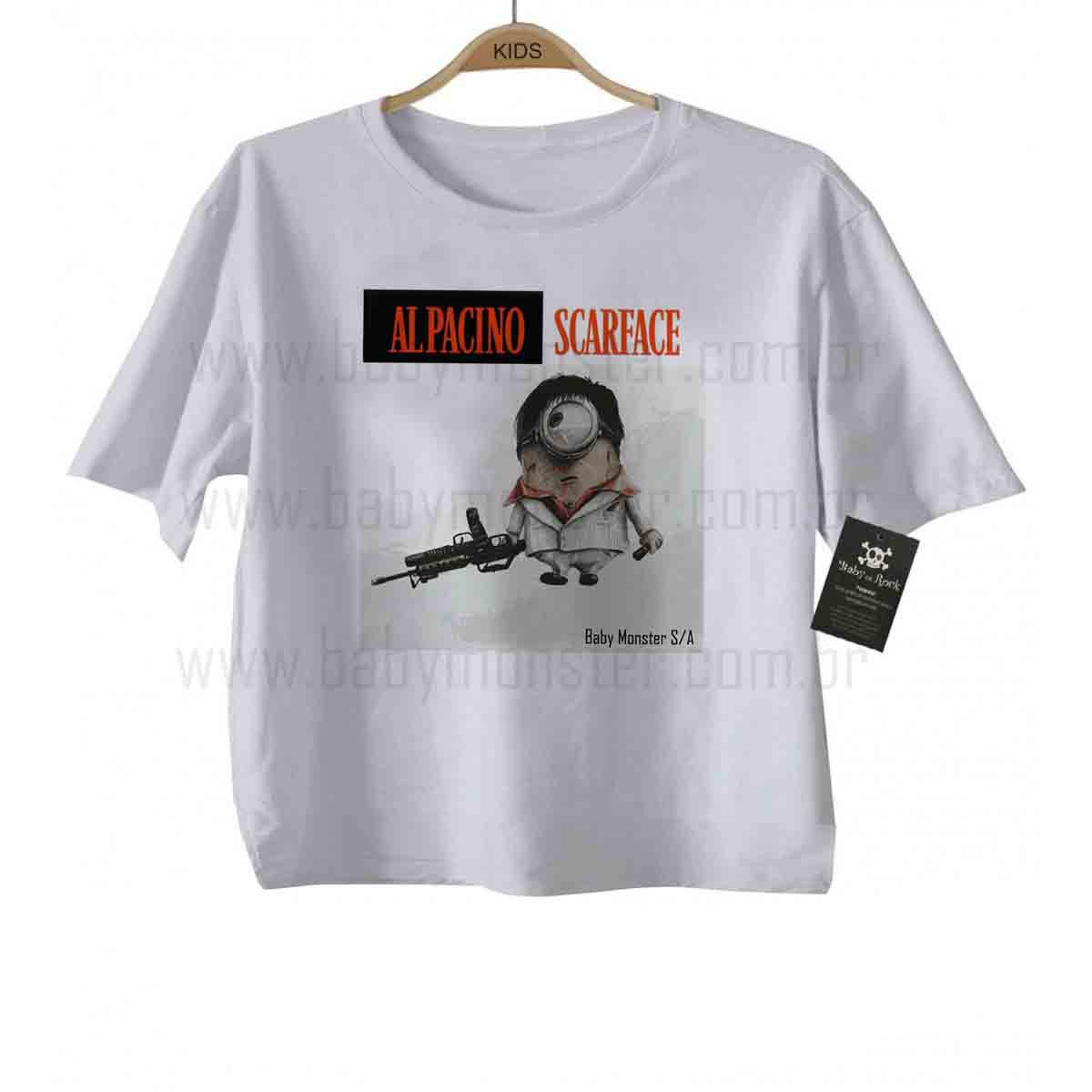 Camiseta Infantil - Scarface Minions - White  - Baby Monster S/A