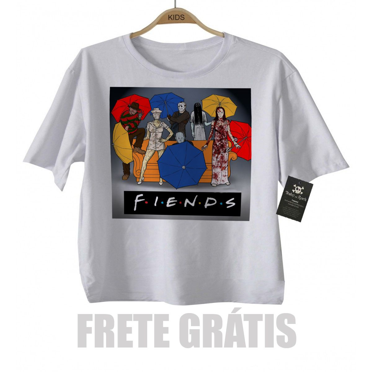 Camiseta Infantil - Seriado | Friends | Terror  - Baby Monster S/A