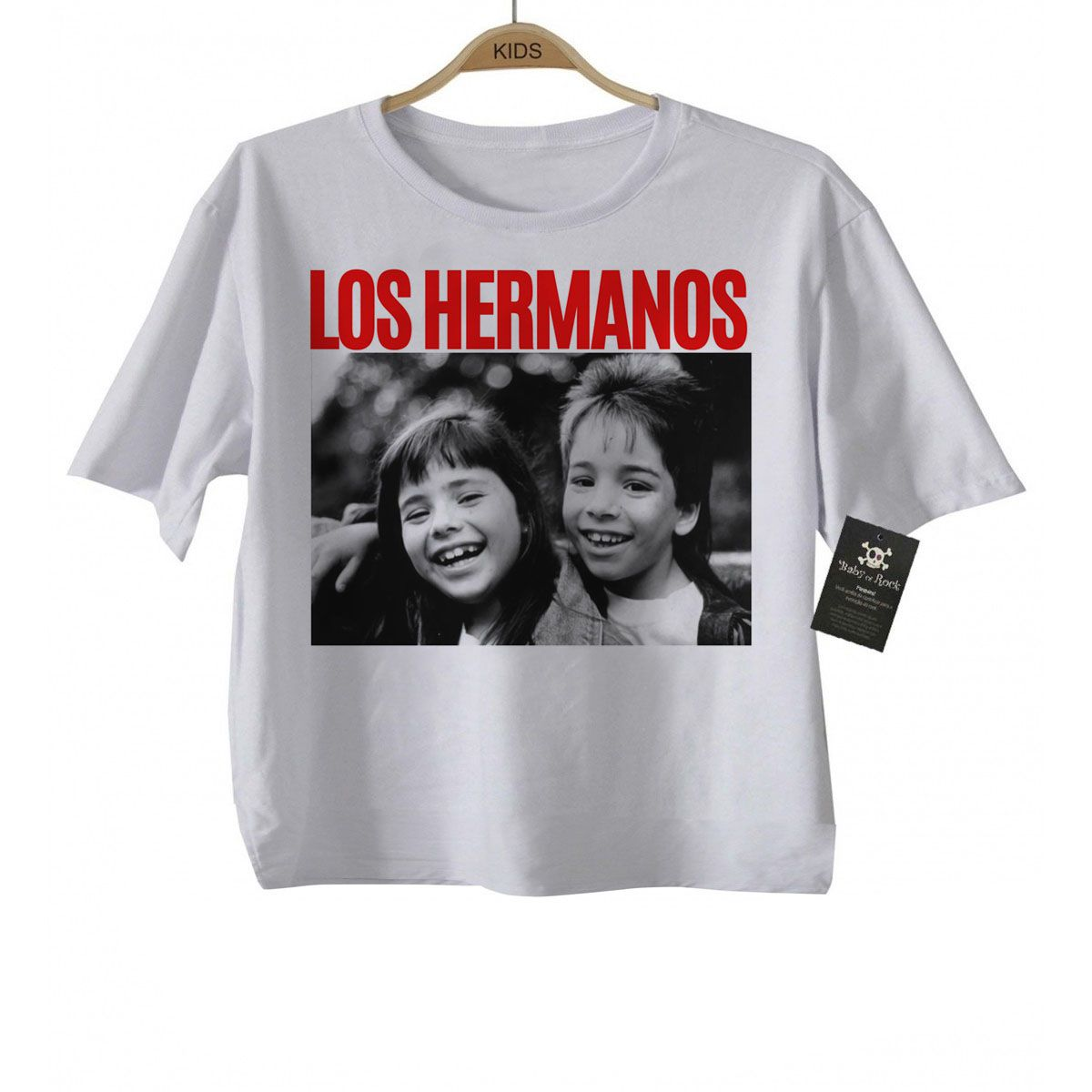 Camiseta Infantil Sertanejo Sandy e Junior Los Hermanos - Baby Monster S/A