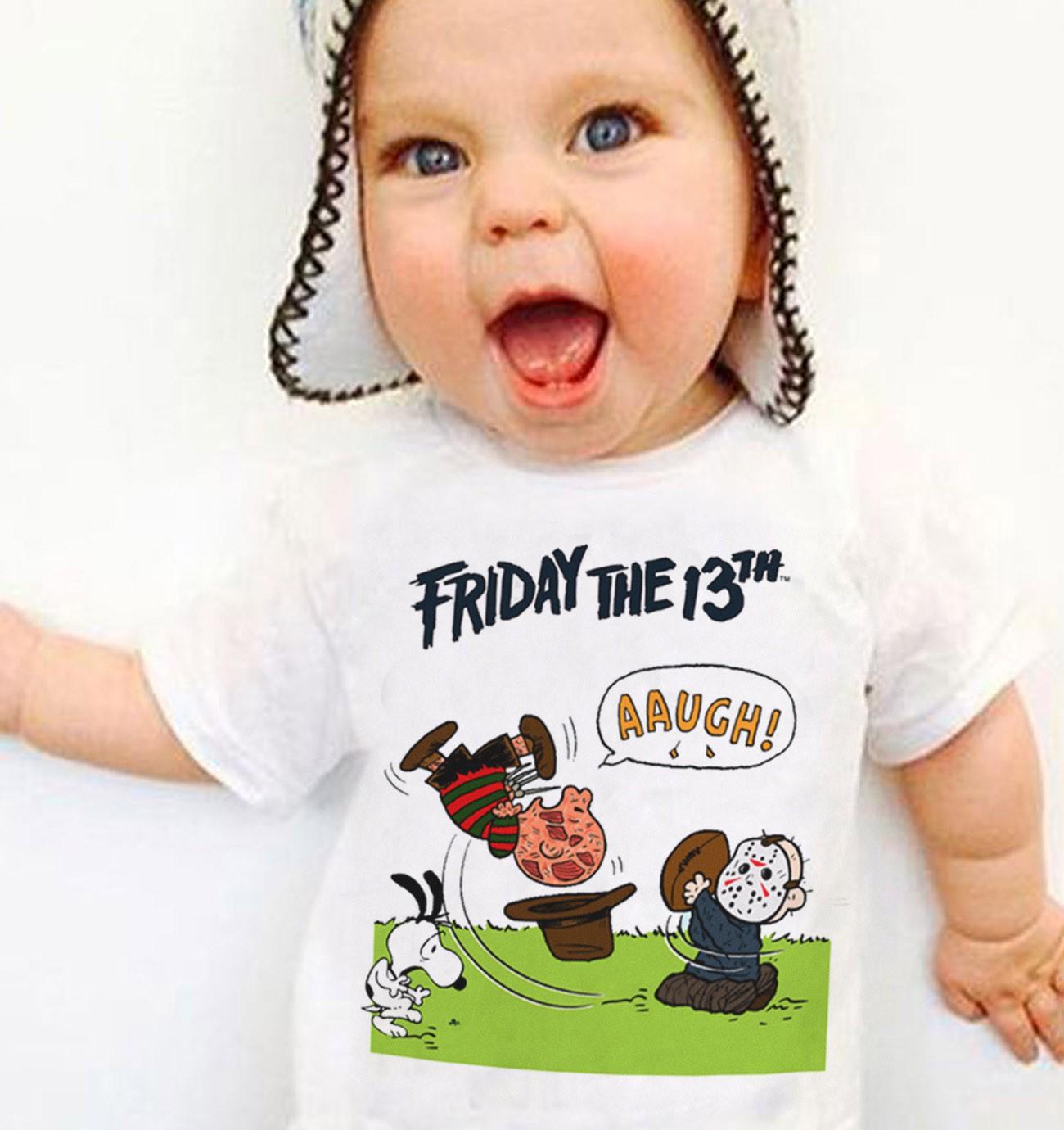 Camiseta Infantil Snoopy Sexta feira 13  - Baby Monster S/A