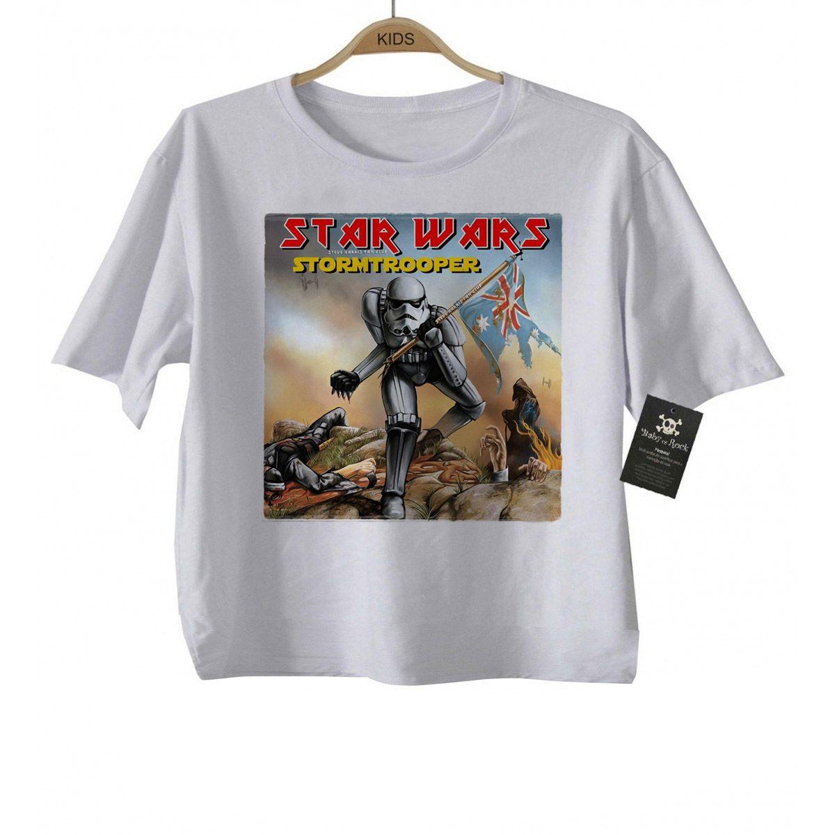 Camiseta Infantil Star Wars / Iron Maiden - White  - Baby Monster S/A