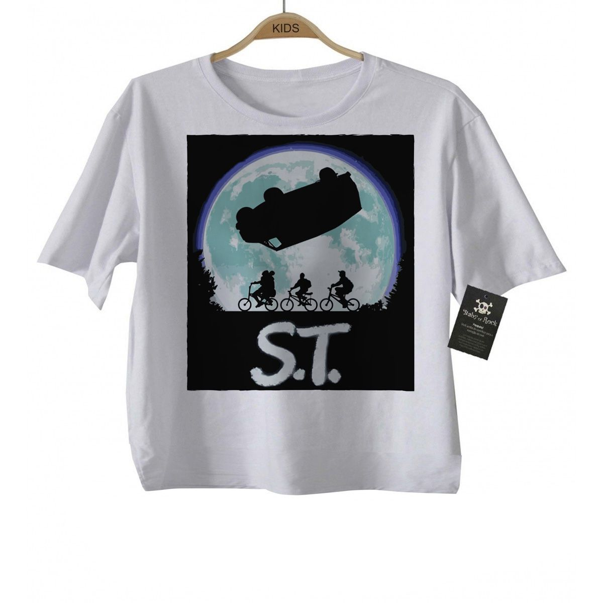 Camiseta Infantil  stranger things - ST - White  - Baby Monster S/A