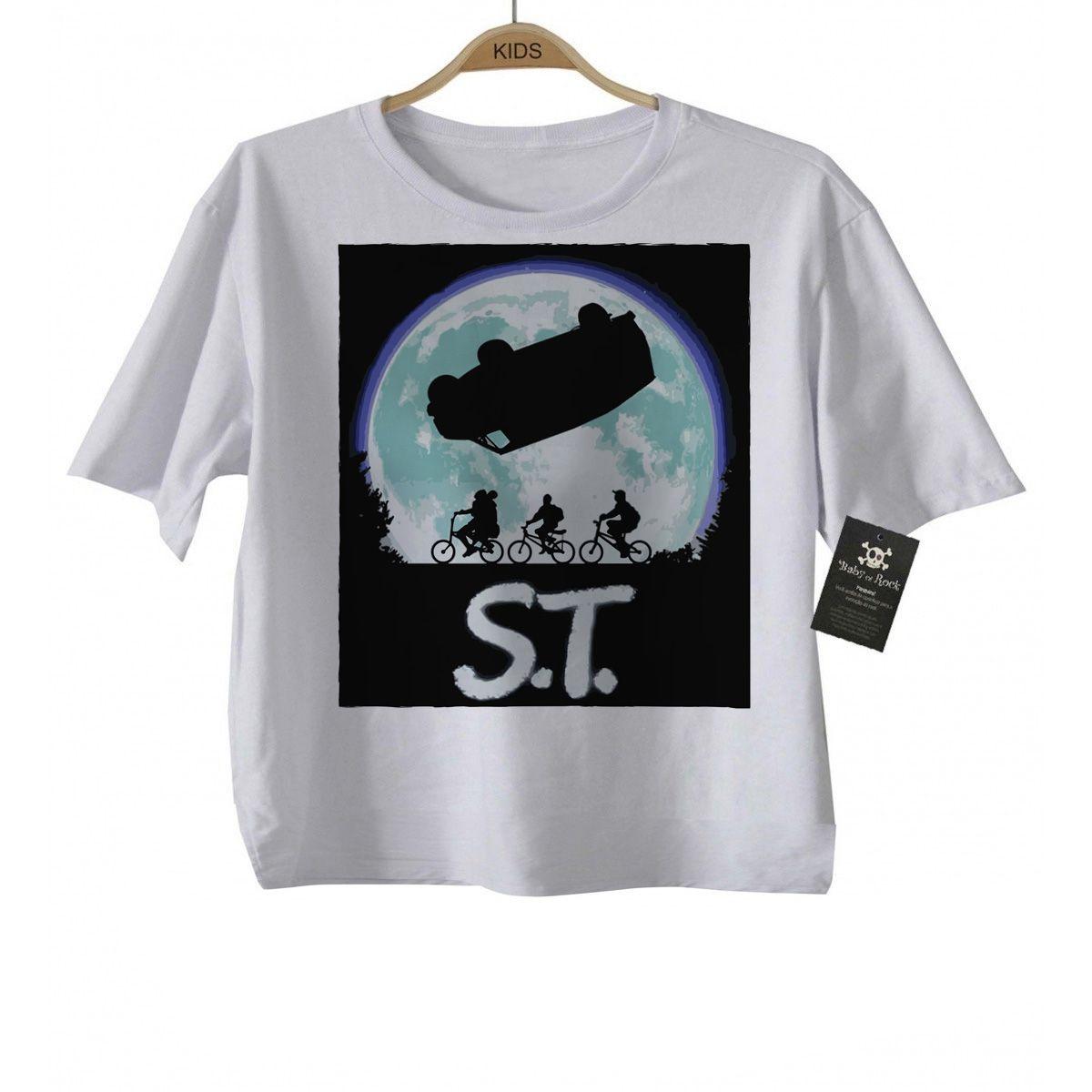 Camiseta Infantil  stranger things - ST - White  - Baby Monster - Body Bebe