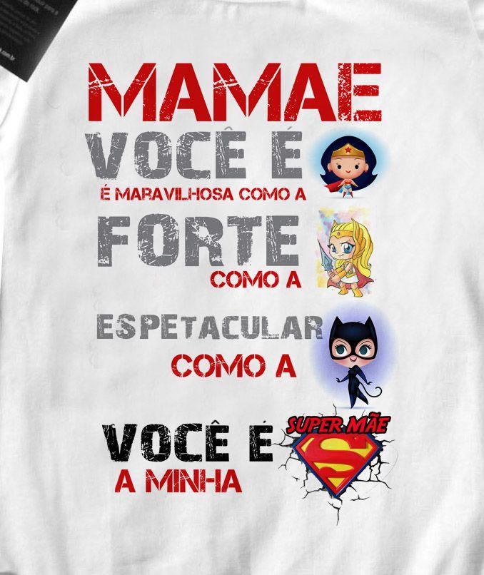Camiseta Infantil   Super Mãe Maravilha  - White  - Baby Monster - Body Bebe